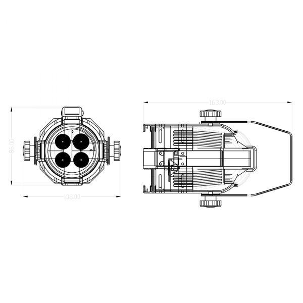 Opti PAR 16 LED 4x1W cw/25 white Picture 7