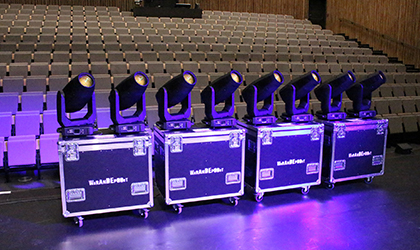Elation Fuze value for CC de Warandepoort Theatre, Belgium