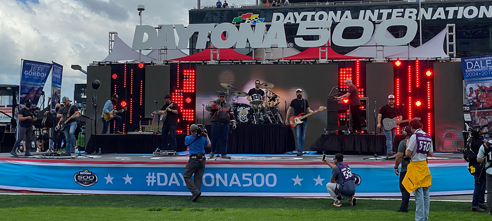 Rain-soaked Daytona 500 not a problem for CSM Production and IP-rated Elation gear