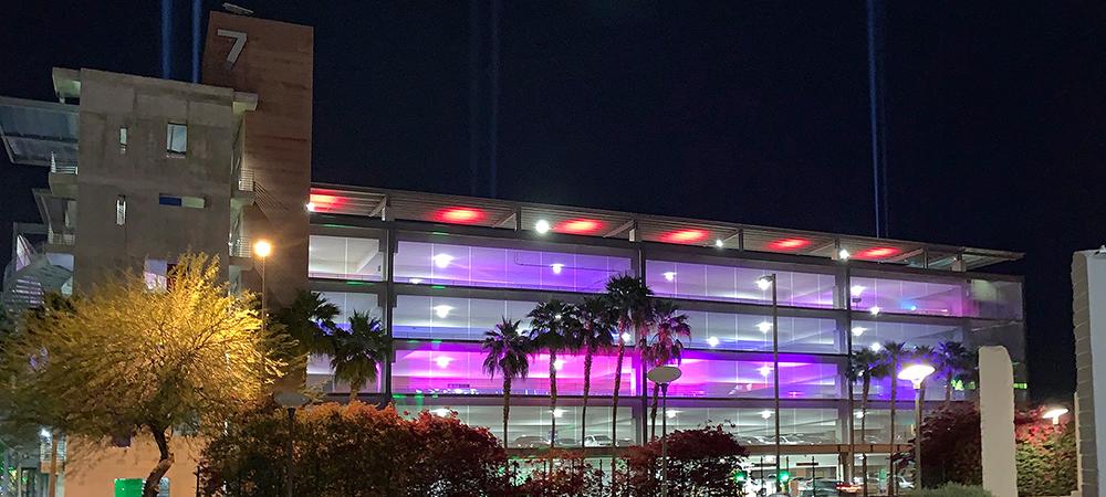 Lightswitch lights drive-thru sensory experience at Arizona State University with Elation