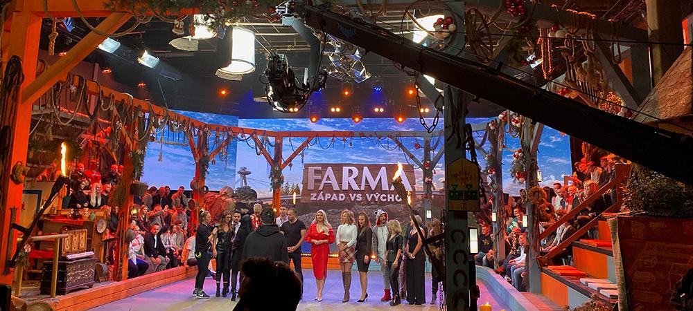 Rayzor 760 lights Slovakian hit reality TV series The Farm