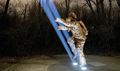Proteus Maximus creates 'Ladder of Light' for firefighter memorial