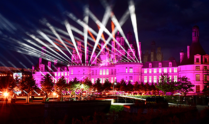 Elation IP line lights Château de Chambord for popular French musical TV show