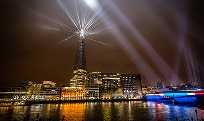 London Welcomes 2021 with Elation Proteus Hybrids