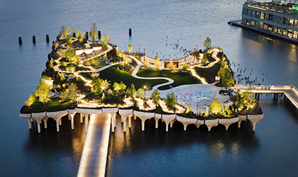 Elation over New York's Little Island oasis