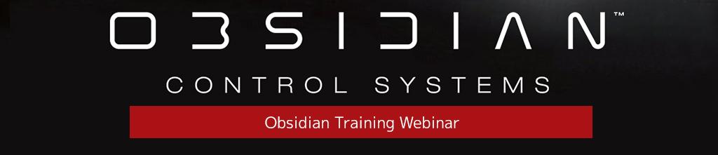 Obsidian ONYX Training Webinar