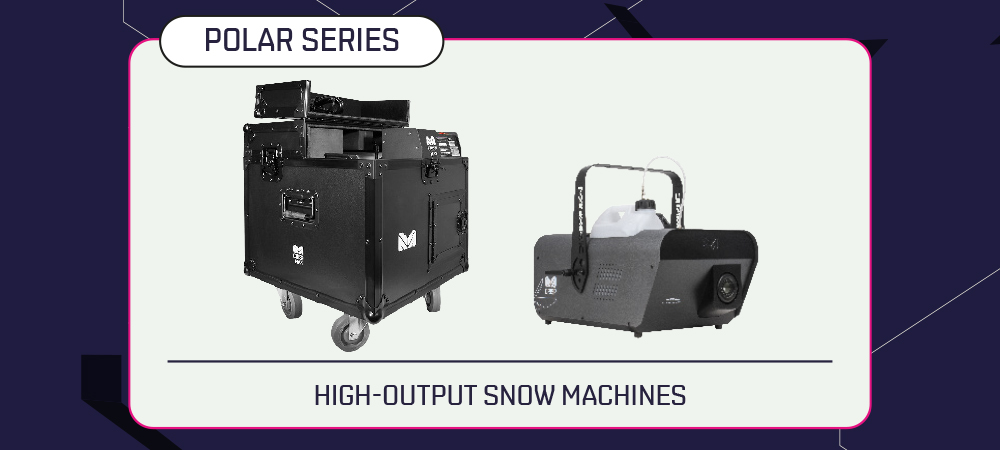 Set the scene this holiday season with Polar Crisp series atmospheric snow effects