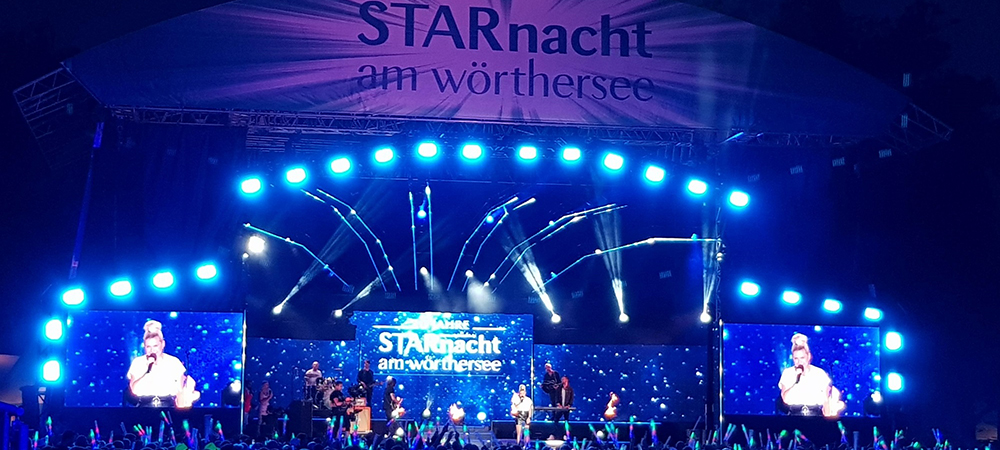 Droneberger Showtechnik invests in Elation Paladin. Dresses Starnacht in color and effect