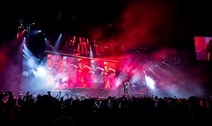 Sensational Sebastian Yatra shows delight with large Elation rig
